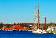 Mystic, Connecticut. Beautiful Mystic, Connecticut in fall Royalty Free Stock Photo