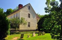 Mystic, CT: Buckingham-Hall House at Mystic Seaport Royalty Free Stock Image