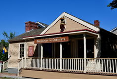 Mystic, CT: Chemist Shop at Mystic Seaport Museum Stock Photo
