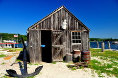 Mystic, CT: Clam Shack at Mystic Seaport Royalty Free Stock Photo