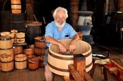 Mystic, CT: Cooper Making Barrel Stock Image