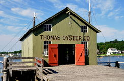 Mystic, CT: Thomas Oyster Co.at Mystic Seaport Royalty Free Stock Photos
