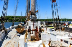 Whaling ship Charles W. Morgan royalty free stock photography
