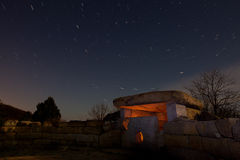 Mystic dolmen at night Stock Images