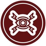 Mystic eye circular icon. A creative illustrated mystic eye circular icon image royalty free illustration