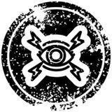 Mystic eye distressed icon. A creative illustrated mystic eye distressed icon image vector illustration