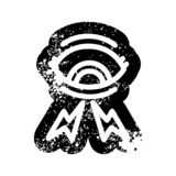Mystic eye distressed icon. A creative illustrated mystic eye distressed icon image royalty free illustration