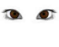 Mystic eyes. Mystic brown eyes isolated over white background macro Stock Photos