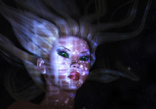 Mystic Female. Digital Illustration of a mystic Female Stock Image
