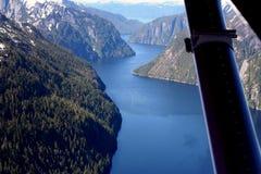 mystic fjorden stock afbeeldingen