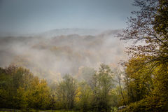Mystic fog in the mountains Stock Photo