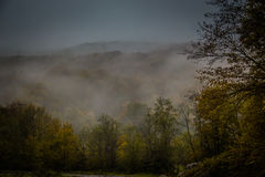 Mystic fog in the mountains Royalty Free Stock Images