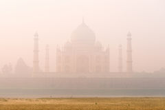 Mystic foggy Taj Mahal, India Royalty Free Stock Image