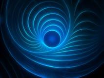 Mystic fractal background. Blue glowing mystic fractal background stock illustration