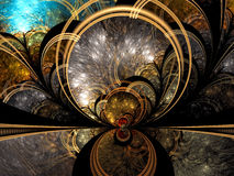 Mystic fractal background - abstract digitally generated image Stock Photo