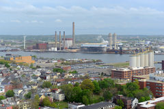 Mystic Generating Station, Boston, Massachusetts, USA Royalty Free Stock Photos