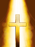 Mystic golden Cross Stock Image