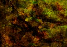 Mystic Grunge Dark Yellow Brown Green Red Rusty Distorted Decay Broken Old Abstract Texture for Autumn Background Wallpaper royalty free stock images