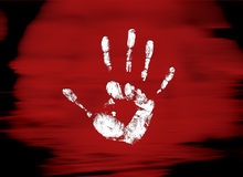 Mystic hand. New unknown handprint on the mystery background Royalty Free Stock Image