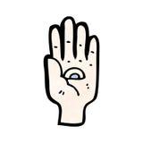 Mystic hand symbol cartoon Stock Photography