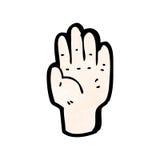 Mystic hand symbol cartoon Royalty Free Stock Photography