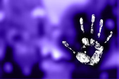 Mystic handprint. Handprint of a child with colors Royalty Free Stock Photos