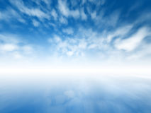 Mystic horizon. Blurred misty abstract infinite sky Royalty Free Stock Image