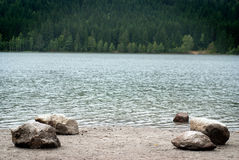 Mystic lake. With pure water in the mountains Stock Image