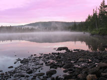 Mystic lake. A small lake in the middle of norway, near the town Mosjoen Royalty Free Stock Photography