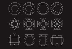 Mystic Logos symbols design set Royalty Free Stock Image