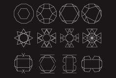 Mystic Logos symbols design set Royalty Free Stock Image