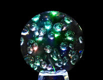 Mystic magic glass sphere ball. Royalty Free Stock Photography