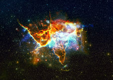 Mystic Mountain in outer space. Stock Photography
