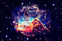 Mystic Mountain in outer space. Elements of this Image Furnished by NASA royalty free stock photos