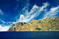Mystic mountains in the Kara-Dag. Crimea. Royalty Free Stock Photos