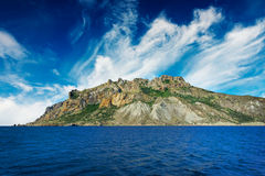 Mystic mountains in the Kara-Dag. Crimea. Royalty Free Stock Photos