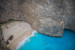Mystic Navagio Beach, Zakynthos, Greece Royalty Free Stock Photography