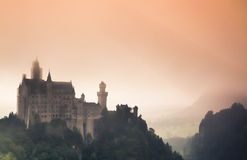 Mystic Neuschwanstein Castle Royalty Free Stock Photography
