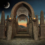 Mystic Place. 3D Render of an Mystic Place Stock Image
