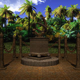 Mystic Place. 3 D Render of an Mystic Place stock illustration