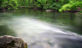 Mystic river. Long-run exposure of a small river stock images