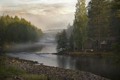 Mystic river Stock Image