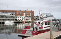 Mystic River Connecticut USA Fire boat Royalty Free Stock Image