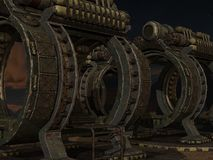 Mystic Sci-Fi Background. 3d render of a mystic sci-fi background stock illustration