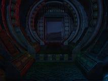 Mystic Sci-Fi Background. 3d render of a mystic sci-fi background vector illustration