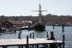 mystic seaport royaltyfri bild