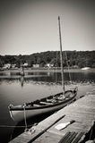 Mystic Seaport sailboat. Docked quietly Stock Images