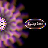 Mystic shiny card with circle ornament and color aberrations Stock Images