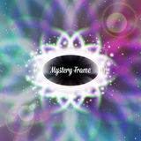 Mystic shiny card with ornament and color Stock Photography