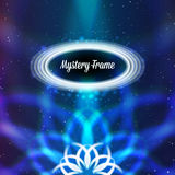 Mystic shiny card with ornament and color Royalty Free Stock Image